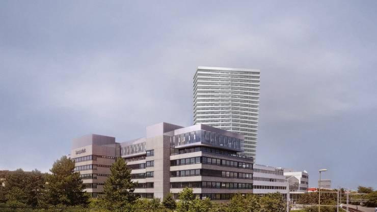 An ihm wurde leicht gedreht: Das geplante Spengler-Hochhaus im Münchensteiner Teil des Dreispitz.