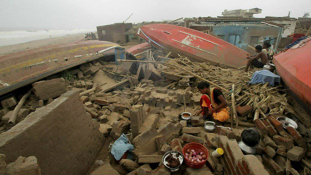Der Zyklon «Fani» hat in Indien grosse Schäden angerichtet, wie hier im Fischerdorf Puri.