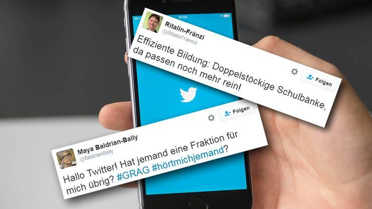 Fake-Accounts von Maya Bally und Franziska Roth sind auf Twitter aktiv geworden.