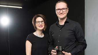 Sara und Cornelius Fischer in ihrem Studio im Stadthöfli.