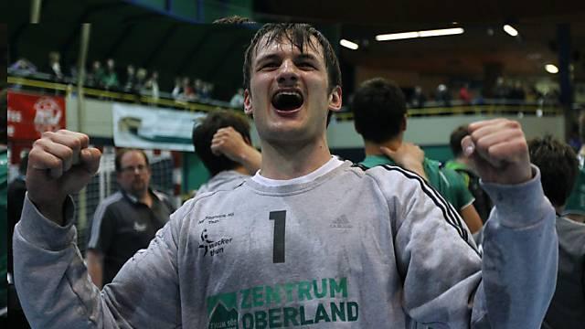 Wackers starker Rückhalt: Goalie Andreas Merz.