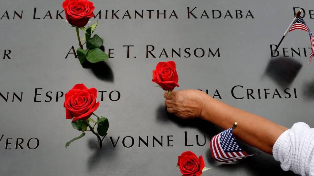 Zum Gedenken an «9/11»: Blumengestecke auf New Yorker Fifth Avenue