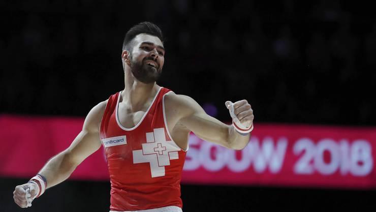 Der 25-jährige Aargauer kürte sich am Reck zum Europameister.