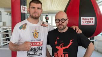 Gehen getrennte Wege: Angelo Gallina (rechts) ist nicht mehr der Manager von Boxer Arnold Gjergjaj. Keystone