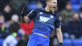 Mit einer Triplette schoss der kroatische Internationale Andrej Kramaric Hoffenheim gegen Hannover 96 zum Heimsieg