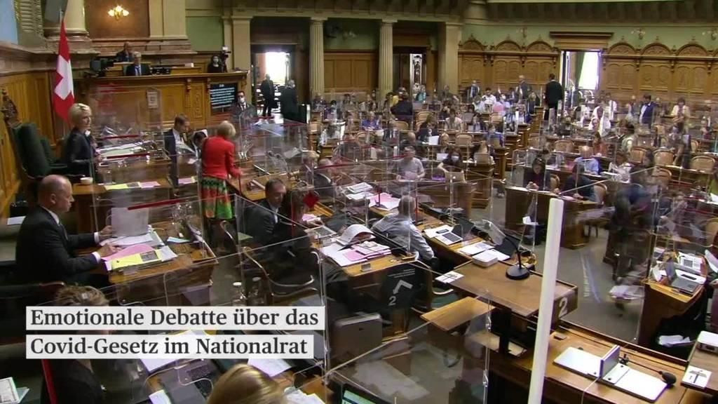Nationalrat beginnt Marathondebatte zum Covid-19-Gesetz