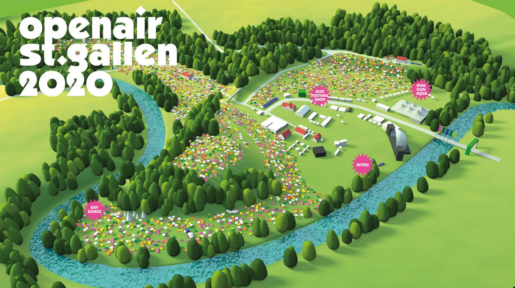 So sieht der neue Geländeplan des OpenAir St.Gallen aus.