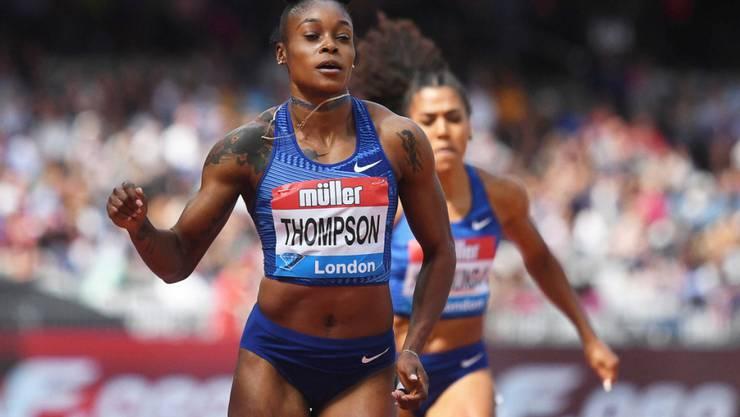 Olympiasiegerin Elaine Thompson gewann das Rennen über 200 m, Mujinga Kambundji blieb als Sechste das Nachsehen