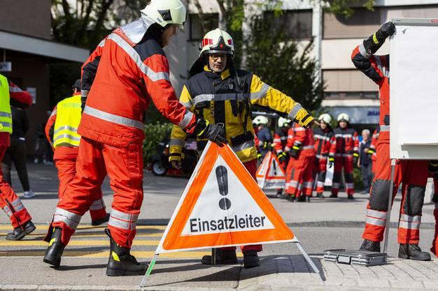 Das Szenario: Ein Brand auf der Liegenschaft Sennenhof.
