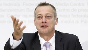 Martin Landolt, Parteipraesident BDP. Der Glarner Politiker möchte dem Grenzdorf Koblenz helfen.