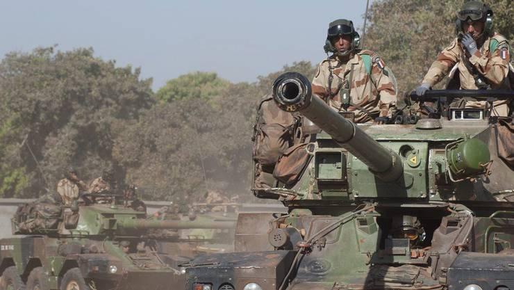 Französische Kampffahrzeuge in Mali