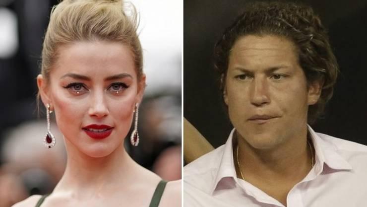 Johnny Depps Ex-Frau Amber Heard (l) und Heidi Klums Ex-Partner Vito Schnabel (r) sollen ein Paar sein. (Archivbilder)