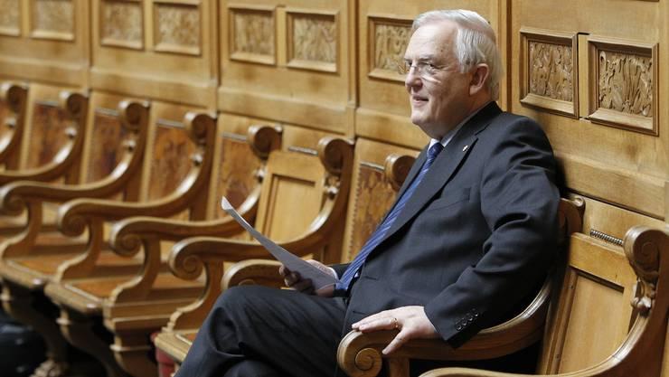 Noch FDP-Nationalrat Hans Rudolf Gysin hat Ende August 2012 seinen letzten Arbeitstag als Direktor der Wirschaftskammer.