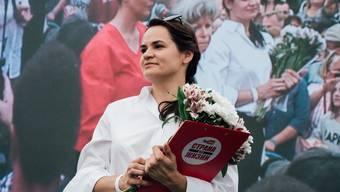 Die 37-Jährige Swetlana Tichanowskaja.