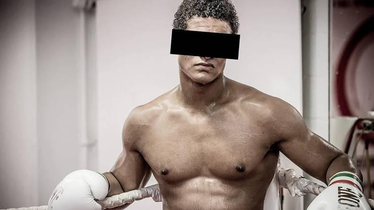 Brian alias Carlos beim Boxtraining vor dem Skandal im Jahr 2013.