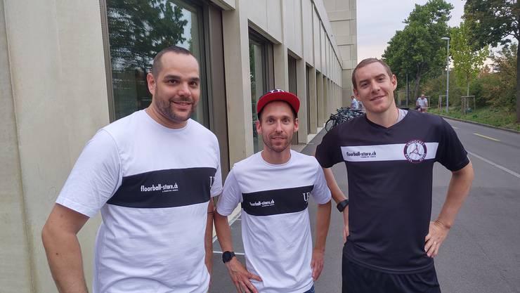 V.l.n.r.: Daniel Moser, Dominic Mucha, Patrick Mendelin