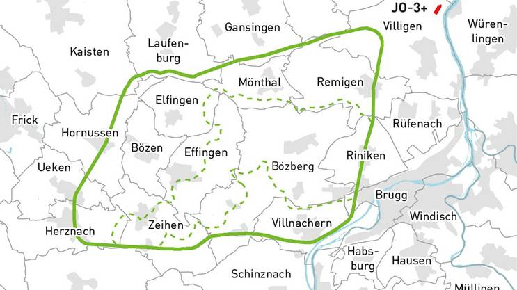 Das Gebiet Bözberg Jura Ost