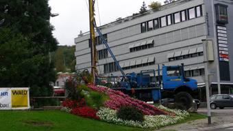 Bohrungen am Schulhausplatz in Baden