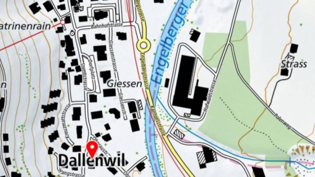 Der Buoholzbach mündet bei Dallenwil NW in die Engelberger Aa.