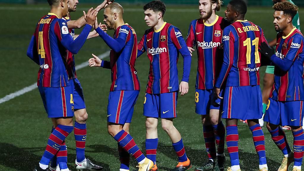 Die Spieler des FC Barcelona können in der Verlängerung doch noch jubeln