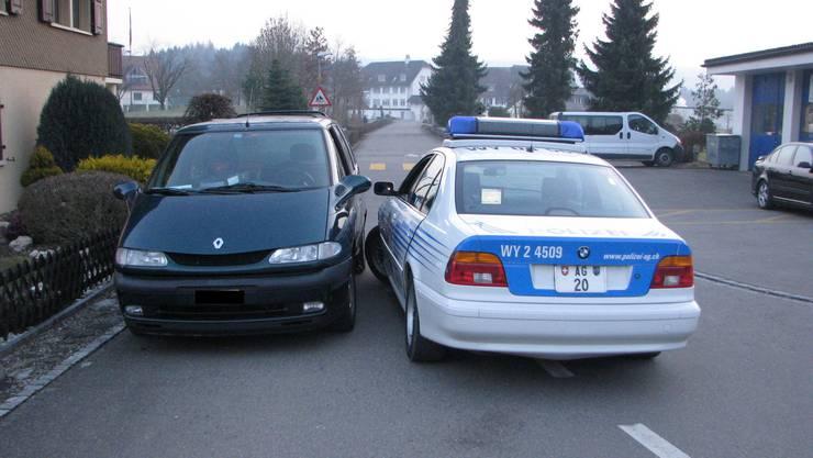 Der gestellte Wagen in Hermetschwil