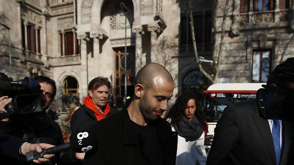 Javier Mascherano musste am Donnerstag in Barcelona vor Gericht erscheinen