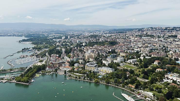 In der Waadtländer Nationalratsdelegation hat die SP einen Sitz an die FDP verloren. Im Bild die Kantonshauptstadt Lausanne. (Archiv)