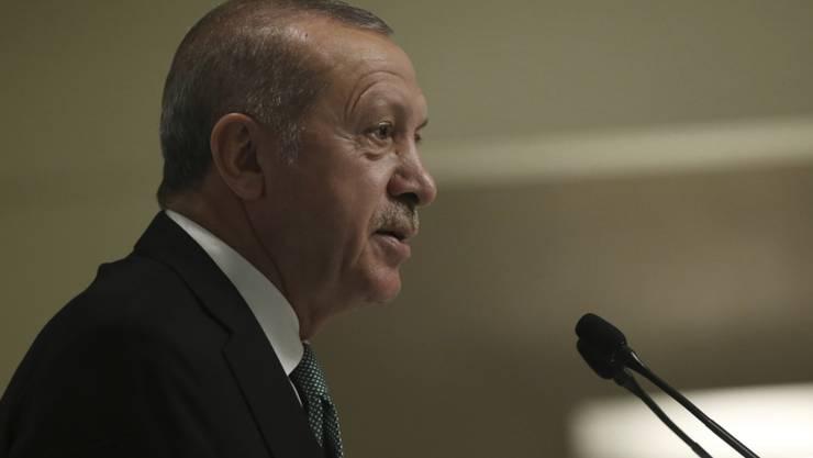 Der türkische Präsident Recep Tayyip Erdogan hat am Montag erneut gegen die USA gehetzt.