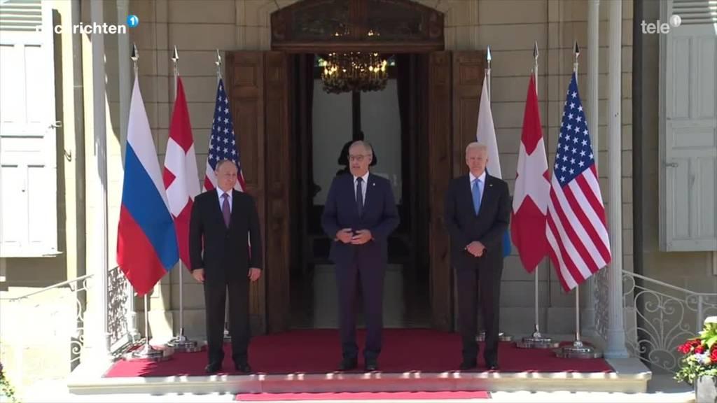 Grosser Auftritt für Parmelin zwischen Putin und Biden