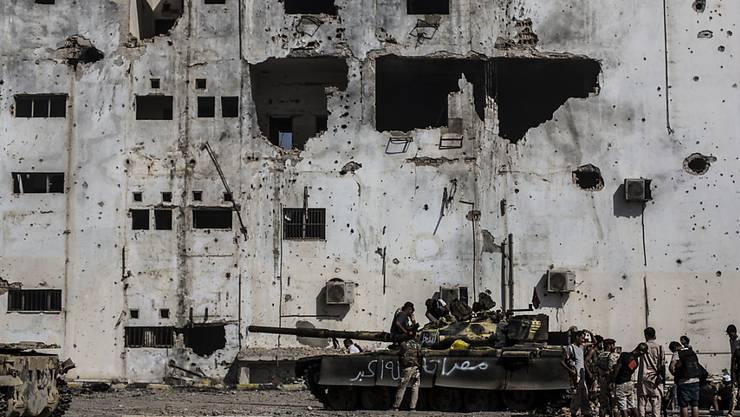 Nach dem Sturz von Machthaber Muammar al-Gaddafi versank Libyen im Chaos. Milizen, Clans und konkurrierende Regierungen kämpfen um die Macht. (Archivbild)