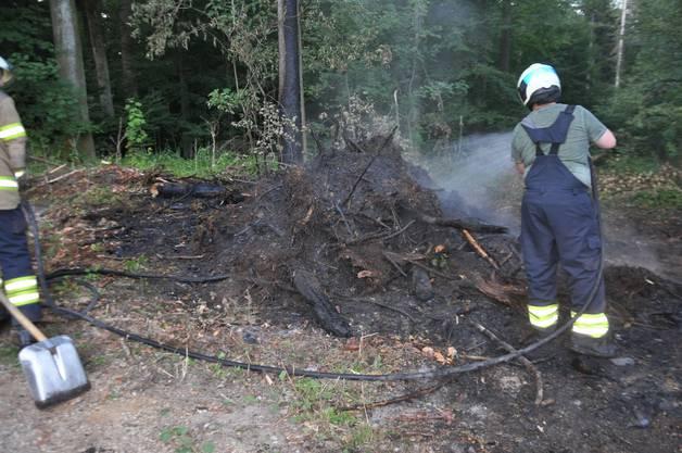 Die Feuerwehr Niedergösgen verhinderte dank schnellem Eingreifen einen Grossbrand.