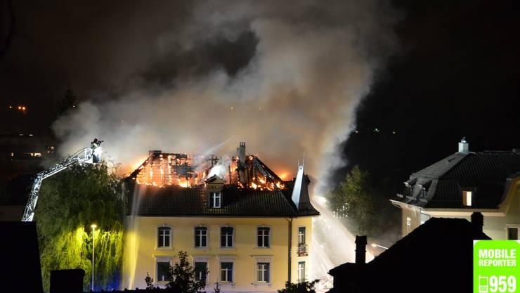 Brand an der Schartenstrasse 28
