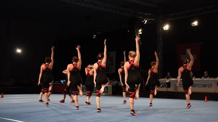 Die Frauen des Team Aerobic Weiningen zeigte an den Schweizer Meisterschaften eine hervorragende Leistung.