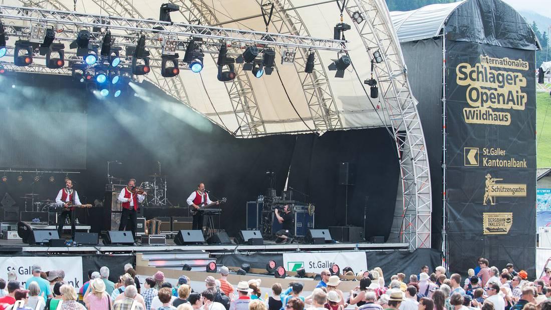 Die Classic-Rock- und Schlagerfreunde treffen sich dieses Wochenende in Wildhaus. © openairwildhaus.ch/fototraum