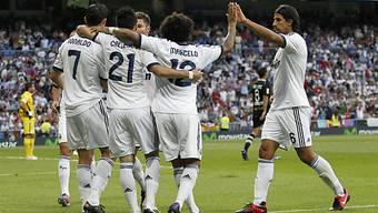 Ronaldo (l.) sorgte mit zwei Toren für Jubelstimmung in Madrid