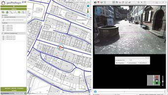 Bildschirmbild einer Infra3-D-Darstellung des Anbieters geoProRegio von der Lenzburger Rathausgasse. zvg/swl