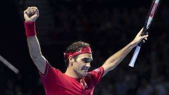 Jubel in Basel - und nach acht Jahren auch wieder an den ATP Finals? Roger Federer fühlt sich jedenfalls erholt und hoch motiviert