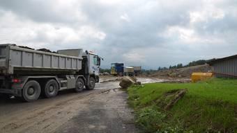 Die Aushubdeponie Weid-Banacker in Beinwil wird rege benützt und nimmt bis ins Jahr 2020 insgesamt 1,34 Millionen Kubikmeter Material auf.