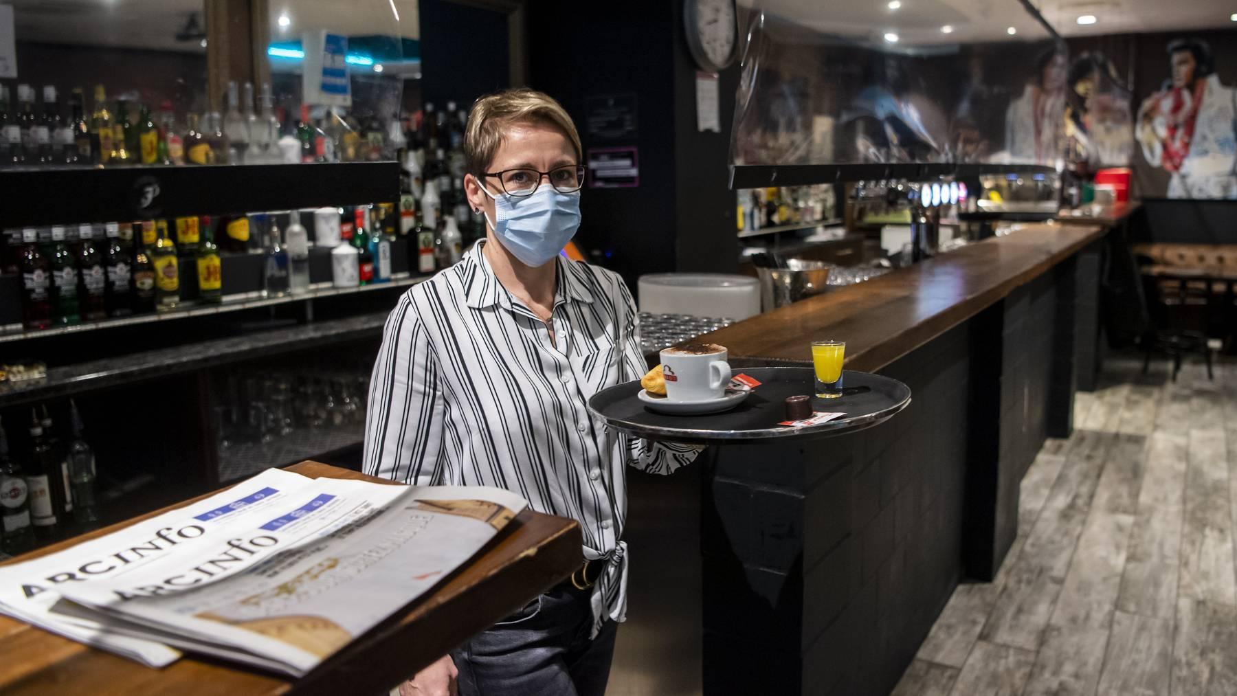Hilfe in der Not: Neuenburger Beizer können beim Kanton finanzielle Hilfe beantragen.