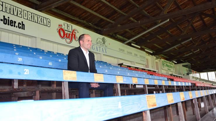 FCS-Präsident Samuel Scheidegger hat sich vorerst vergeblich auf die Sanierung der Tribüne gefreut.