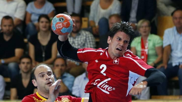 Andy Schmid wartet mit der Schweiz weiter auf den ersten Sieg in der EM-Qualifikation