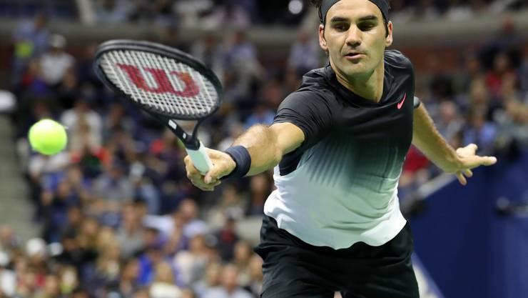 Roger Federer steht in den Viertelfinals der US Open.