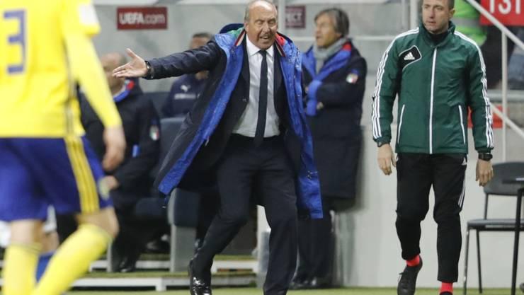 Stark unter Druck vor dem Rückspiel gegen Schweden: Italiens Nationalcoach Gian Piero Ventura