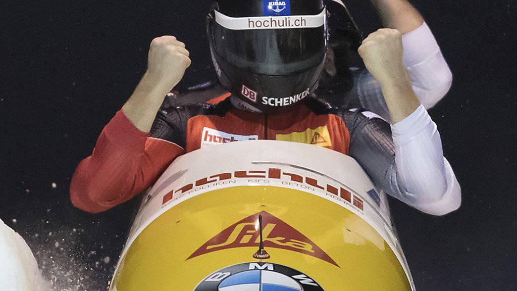 Rico Peter erstmals mit dem grossen Schlitten im Weltcup erfolgreich