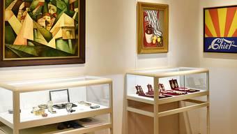 Diese Werke werden bis auf Weiteres nicht unter den Hammer kommen: einige von Schwarzenbachs Kunstwerken, die im Auktionshaus Koller ausgestellt sind.