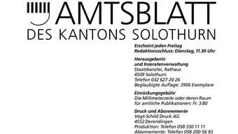 Das Solothurner Amtsblatt wird weiterhin gedruckt.