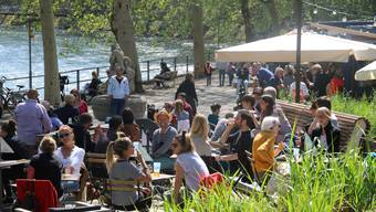 Das Café Kajüte an der Limmatpromenade am 1. Mai 2019.