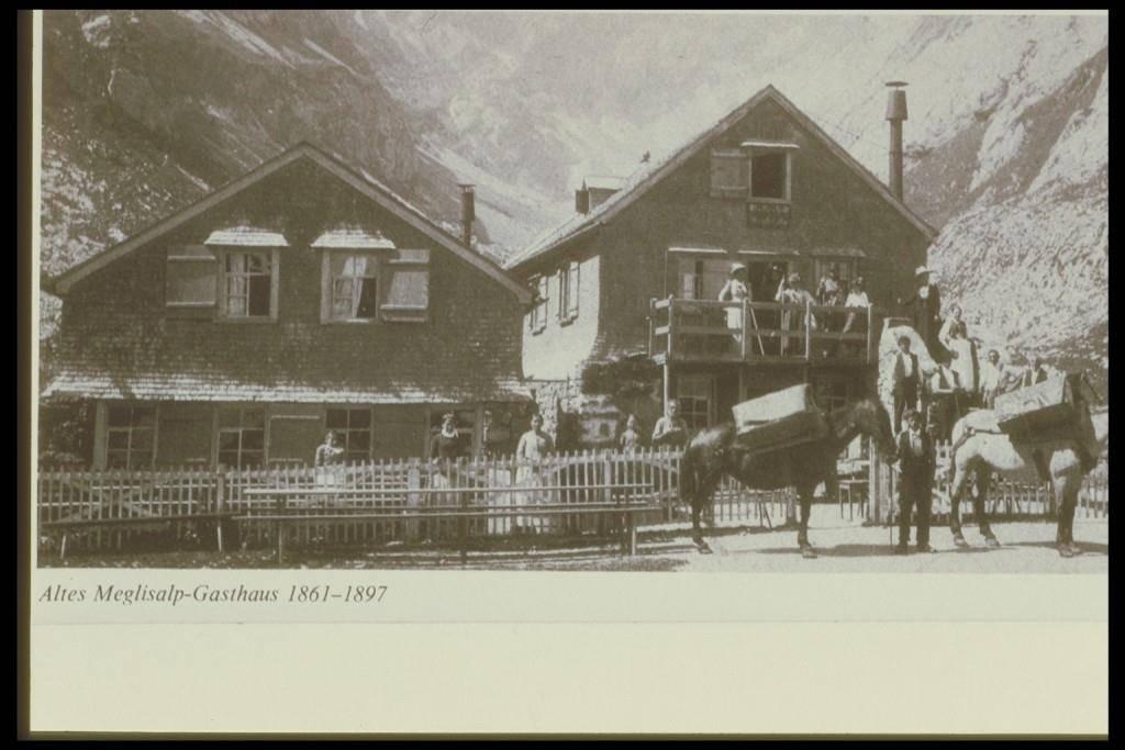 Das Berggasthaus Meglisalp um 1865. (© zVg)