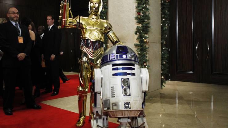 """Sie ist einem Filmfan Millionen von Dollar wert: Die weisse Roboterfigur R2D2 aus der """"Star Wars""""-Reihe. (Archivbild)"""