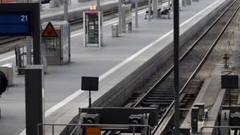 Leere Gleise am Münchner Hauptbahnhof: Das Bahnpersonal streikt